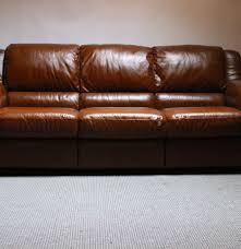 Cognac Leather Sofa by Italsofa Modern Cognac Leather Sofa Ebth