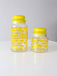 vintage glass canisters kitchen vintage mod glass kitchen canisters set of 2 u2013 86 vintage