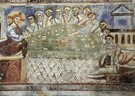 last supper c 1080 fresco sant angelo formis romanesque last supper c 1080 fresco sant angelo formis