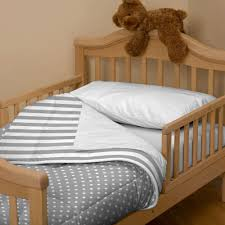 Silk Crib Bedding Set Bedroom Appealing Gray Plus White Dots Plus Stripes Three Piece