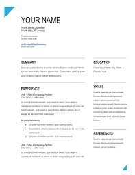 Microsoft Word Resume Templates 2007 Free Blank Resume Templates For Microsoft Word Resume Template