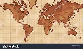 Mercator World Map by Mercator World Map Antique Style Stock Illustration 19723459
