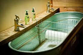 galvanized tub kitchen sink galvanized tub as a sink archives french country and fat bottom