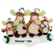 buy moose family 4 personalized ornament personalized