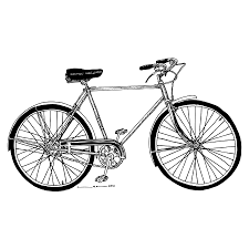 classic road bicycle drawing by karl addison