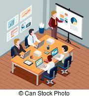 bureau concept concept bureau employés compagnie vector réunion
