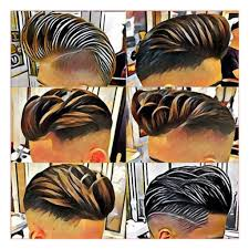 Mens Hairstyles With Line by Black Men Haircuts Styles In Barber Shop With Mens Haircut Shaved