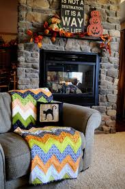 the little fabric blog halloween chevron quilt tutorial