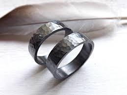 Black Wedding Rings For Her by Black Silver Wedding Bands Matching Rings For Him And Her His