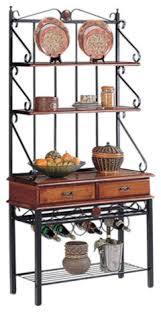 Bakers Wine Racks Furniture Kitchen Bakers Rack With Wine Rack Dirty Oak Mediterranean