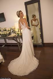 calvin klein wedding dresses fashionista helena bordon holds third wedding in st