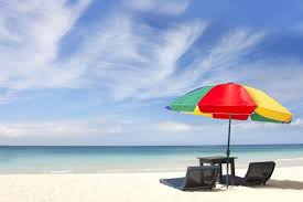 Beach Umbrella And Chairs Unseasonably Warm Week Will Feature Potential Of Record Breaking