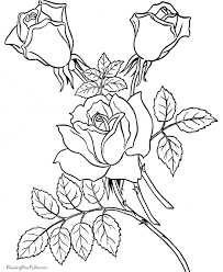 roses valentine coloring pages kids valentine u0027s