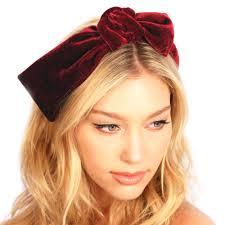knot headband velvet knot headband kristin perry accessories