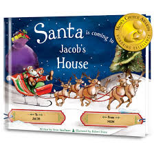 santa is coming to my house personalized book put me in the story