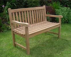 solid teak 2 seat chunky park garden bench sale now on your price