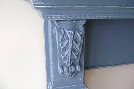 aqua blue fireplace mantle