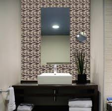 interior nice self adhesive wall tiles with wall mirror and dark