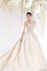 ziad nakad 2015 haute couture bridal wedding dress leaf applique
