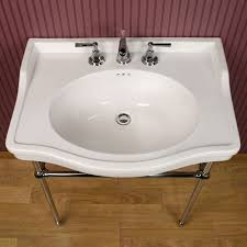 Console Sinks Bathroom Marble Console Sink With Brass Legs Best Sink Decoration