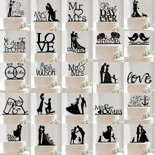 Wedding Toppers Mr U0026 Mrs Wedding Party Silhouette Cake Topper Bride And Groom