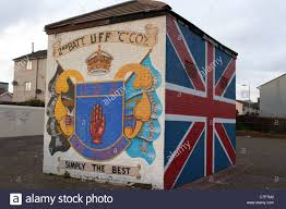 shankill road mural stock photos shankill road mural stock uda uff shankill road loyalist wall mural painting west belfast northern ireland stock image