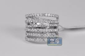 highway wedding band womens diamond highway band ring 14k white gold 2 02 ct