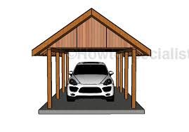 Car Port Plans Building A Gable Carport Roof Plans Howtospecialist How To
