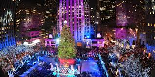 when is the tree lighting in nyc 2014 rainforest
