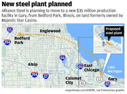 Illinois On A Map by Illinois Steel Company Looking To Bring 100 Jobs To Gary