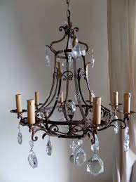 Forged Chandeliers Antique Forged Wrought Iron Chandelier