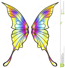 image gallery of colorful butterfly wings drawing