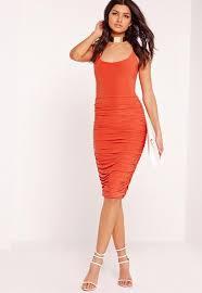 elodia velvet midi dress red missguided