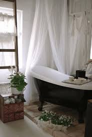 bathroom window curtain ideas grey concrete stone polished floor