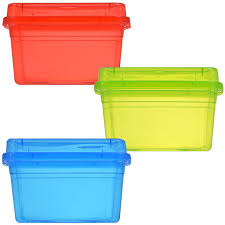 bulk small rectangular translucent plastic storage containers with