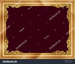 gold photo frames corner thailand line stock vector 503342371 gold photo frames with corner thailand line floral for picture vector frame design decoration pattern