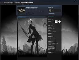 animated 2b nier automata steamprofile by yolokas on deviantart