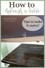 Wood Table Refinishing 118 Best Dining Table Makeover Images On Pinterest Home Ideas