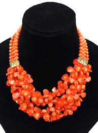 beads wedding necklace images Flowered coral beads beads craft creative gif
