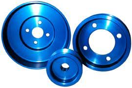 95 mustang gt underdrive pulleys mustang blue aluminum underdrive pulley kit 79 93 829125
