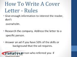 4 effective cover letters