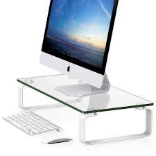 high quality glass display desktop monitor stand buy glass