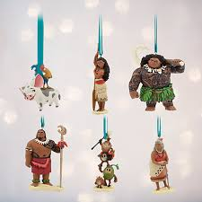 moana ornaments set of 6
