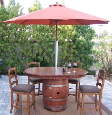 Wine Barrel Patio Table 38 Best Reusing Wine Barrel Ideas And Designs For 2018