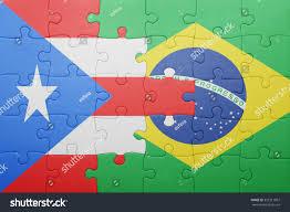 Blank Brazil Flag Puzzle National Flag Puerto Rico Brazil Stock Photo 355211807