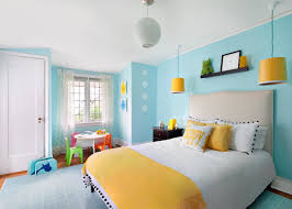 excellent blue and yellow bedroom ideas in designing home