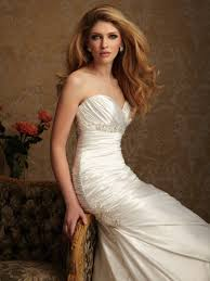 buy cheap ruched bodice elastic satin sweetheart wedding dresses 2014