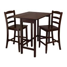 High Top Patio Furniture Set - amazon com winsome lynnwood drop leaf high table with 2 counter