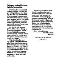letters to editor retain judge lisa schultz