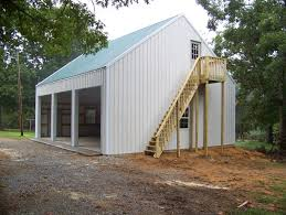24x36x10 3 car garage and loft pole building residential